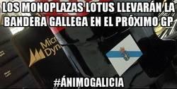 Enlace a Los monoplazas Lotus llevarán la bandera gallega en el próximo gp