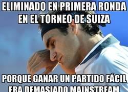 Enlace a Federer, eliminado en primera ronda en su tierra