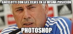 Enlace a Ancelotti con las cejas en la misma posición
