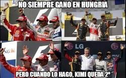 Enlace a Kimi y su persistencia por el segundo puesto en Hungría