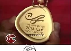 Enlace a Fail épico, nivel: cometer una falta de ortografía en las medallas de los World Games (pone Word)