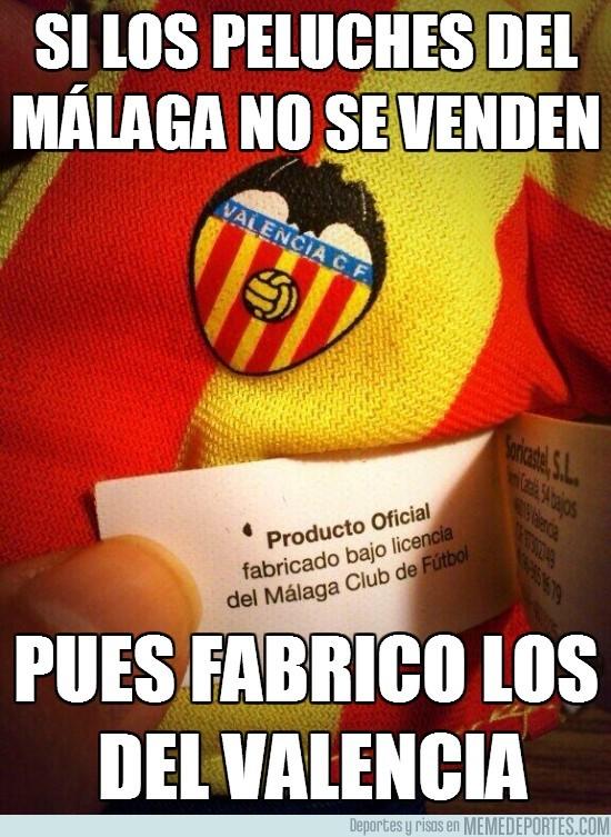 170493 - Málaga Club de Fútbol, equipo de primera y fabricante de peluches de otros clubes
