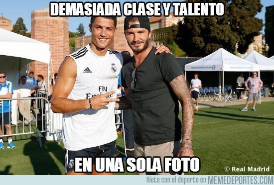 170501 - Beckham ha pasado a hacer una vistilla al entrenamiento del Madrid