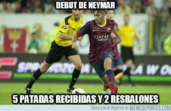170716 - Y aquí tenéis las estadísticas del debut de Neymar