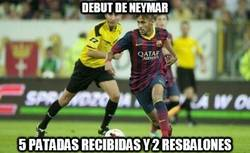Enlace a Y aquí tenéis las estadísticas del debut de Neymar