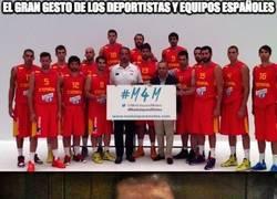 Enlace a El gran gesto de los deportistas y equipos españoles