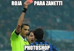 Enlace a Tarjeta roja para Zanetti