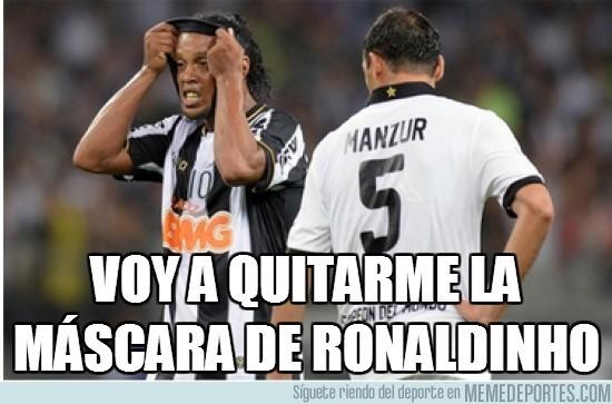 172814 - Voy a quitarme la máscara de Ronaldinho