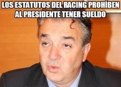 Enlace a Los estatutos del Racing prohíben al presidente tener sueldo