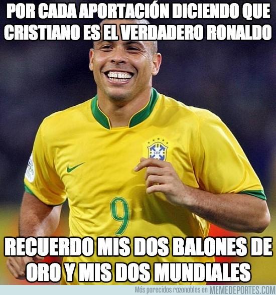 173617 - Por cada aportación diciendo que cristiano es el verdadero Ronaldo