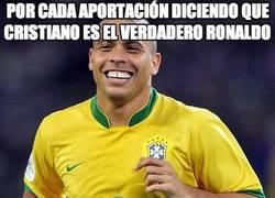 Enlace a Por cada aportación diciendo que cristiano es el verdadero Ronaldo