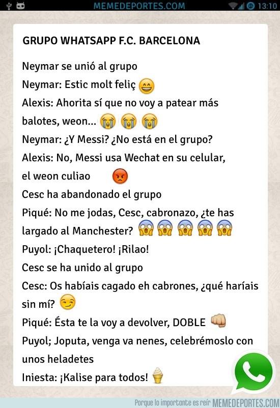 173932 - Grupo de whatsapp del Barça
