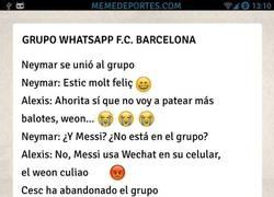 Enlace a Grupo de whatsapp del Barça