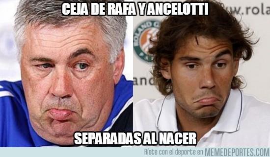 174762 - Cejas de Rafa Nadal y Ancelotti