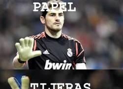 Enlace a Casillas vs Diego López (Piedra,papel,tijeras). ¿Quién será el titular?