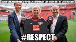 Enlace a El Leverkusen dona su publicidad para luchar contra la leucemia