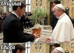 Enlace a Chops del encuentro histórico entre Messi y el Papa