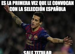Enlace a Es la primera vez que le convocan con la selección española