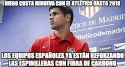 Enlace a Diego Costa renueva con el Atlético de Madrid hasta 2018.