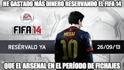 Enlace a He gastado más dinero reservando el FIFA14