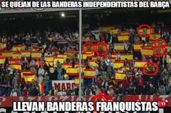 Enlace a Se quejan de las banderas independentistas del Barça