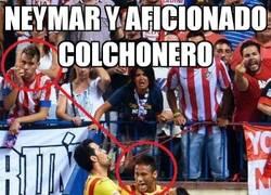 Enlace a Neymar y aficionado colchonero