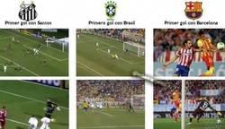 Enlace a Neymar, estrenándose siempre con gol de cabeza