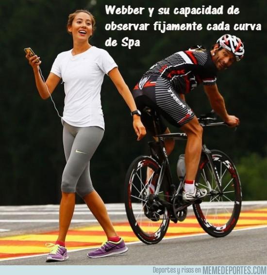 178143 - Webber estudiando cada curva de Spa