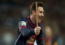 Enlace a Messi le da al palo y lo celebra ¡Un palooooooooo!