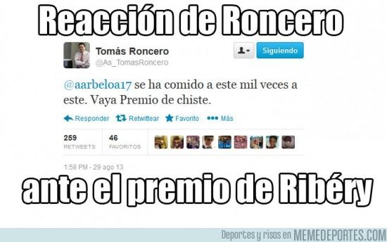 180714 - Reacción de Roncero ante el premio de Ribéry