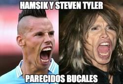 Enlace a Hamsik y Steven Tyler
