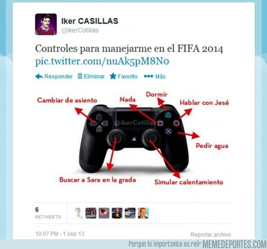 182336 - Controles para Casillas en el FIFA 2014