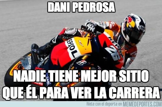 182410 - Dani Pedrosa, espectador VIP en todas las carreras