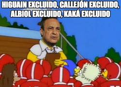 Enlace a Higuain excluido, Callejón excluido, Albiol excluido, Kaká excluido