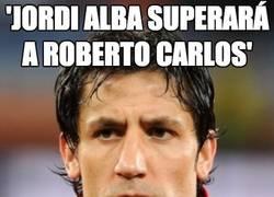 Enlace a Jordi Alba superará a Roberto Carlos