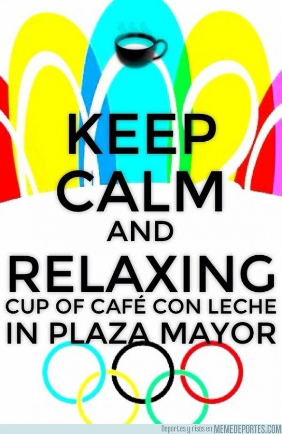 184643 - Keep Calm and relaxing cup of Café con Leche in Plaza Mayor