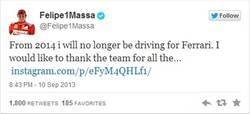 Enlace a Confirmado: Felipe Massa se va de Ferrari. ¿Kimi su sustituto?