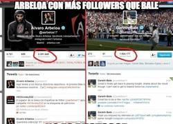 Enlace a Arbeloa con más followers que Bale