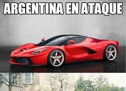 Enlace a Argentina en ataque y en defensa