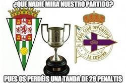 Enlace a Córdoba-Depor, una tanda de 28 penaltis