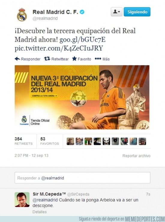 185836 - Tercera equipación del Real Madrid y Arbeloa