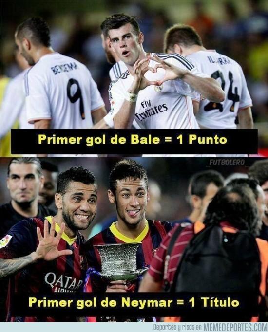 186891 - Diferencias del primer gol de Neymar y Bale