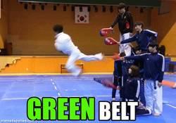 Enlace a GIF: Todos los cinturones en uno. Menuda patada