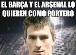 Enlace a El Barça y el Arsenal lo quieren como portero