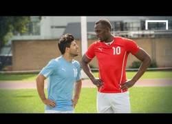 Enlace a VÍDEO: Pique entre Agüero y Bolt para calentar el clásico de Manchester
