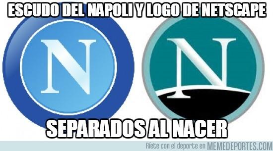 188358 - Escudo del Napoli y logo de Netscape