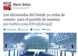 Enlace a Los aficionados del Getafe en el autobús por @MarioGotse19