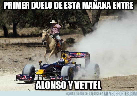 188922 - Primer duelo de esta mañana entre Alonso y Vettel