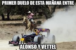 Enlace a Primer duelo de esta mañana entre Alonso y Vettel