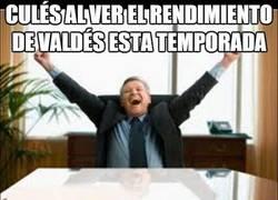 Enlace a Culés al ver el rendimiento de Valdés esta temporada
